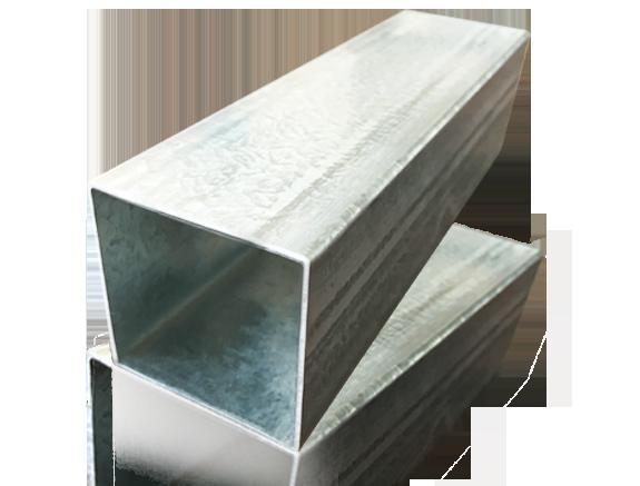 Tubo de acero galvanizado cuadrado y rectángulo