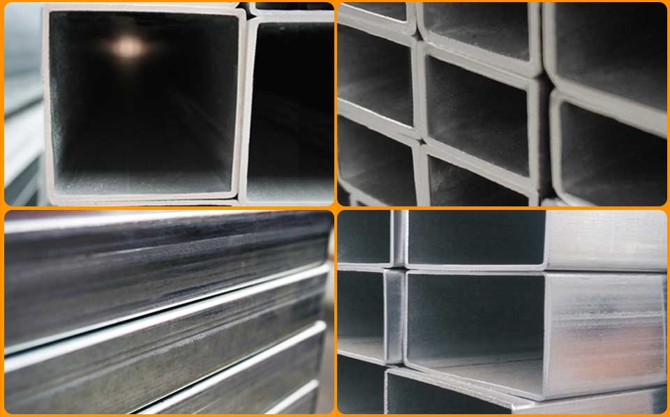 Galvanized Rectangular and Square Steel Tube Details
